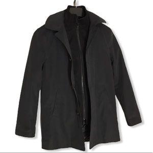 Lauren Ralph Lauren Black Zip-Front Jacket Sz 14R